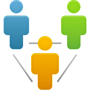 Business relationship logo