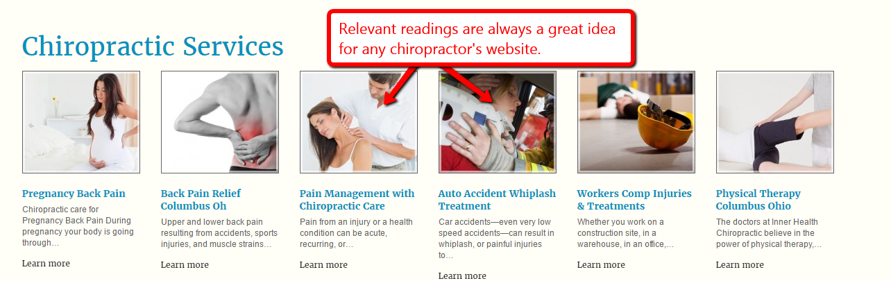 Chiropractic seo services