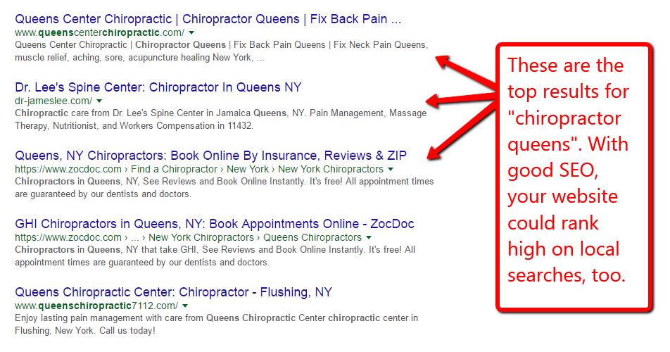 Chiropractic seo company